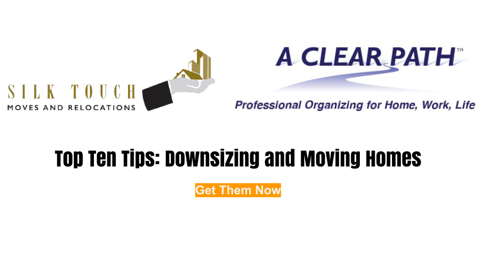 Use these top ten tips form organizing before a move from certified professional organizer Regina Lark to remove stress from a moving.